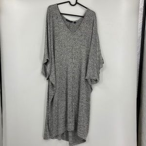 H by Halston Oversized Sweater Tunic Dress